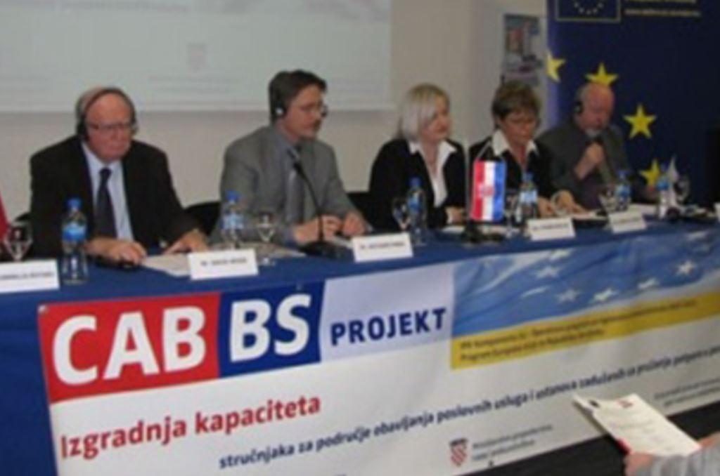 """Predstaljanje Projekta CABBS 'Izgradnja kapaciteta stručnjaka za područje obavljanja poslovnih usluga i ustanova zaduženih za pružanje potpore u poslovanju"""""""