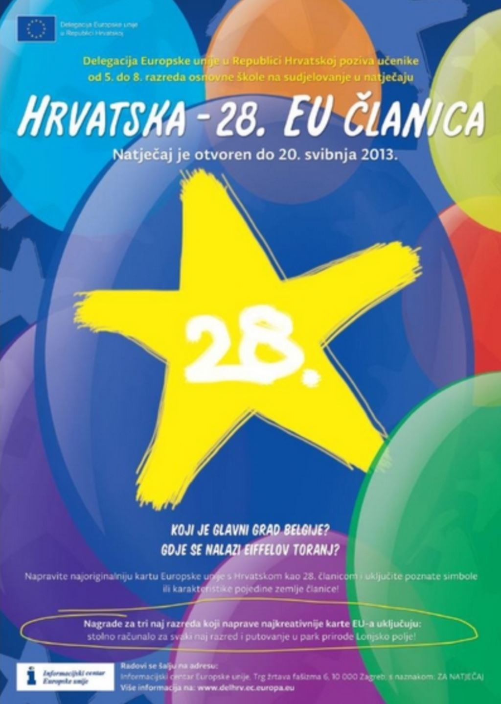 Novi natječaj Delegacije EU-a - Hrvatska 28. EU članica