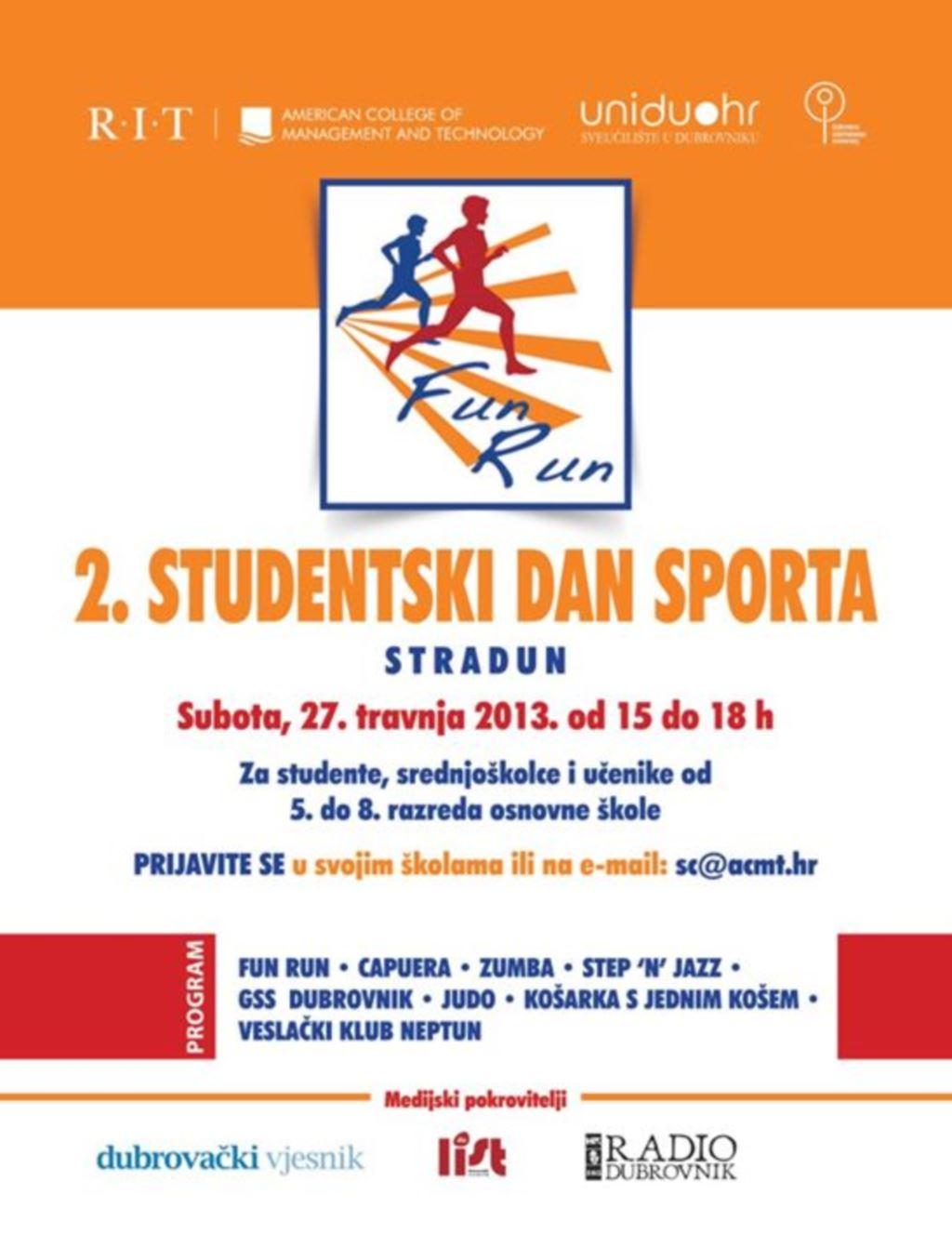 2. STUDENTSKI DAN SPORTA - RIT/ACMT FUN RUN