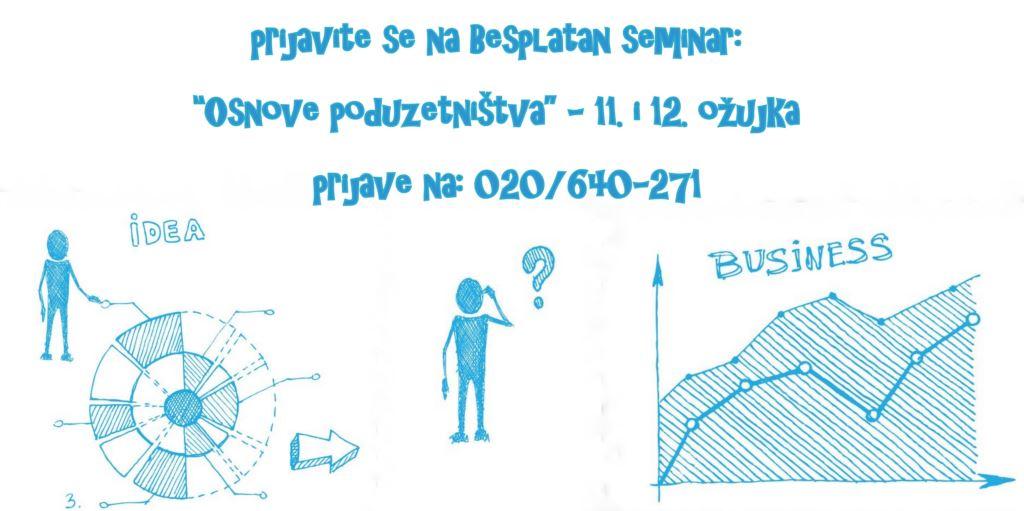 """Prijavite se na besplatan seminar """"Osnove poduzetništva"""""""