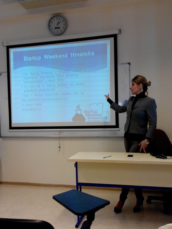 Startup Weekend 2 prezentacije na ACMT-U