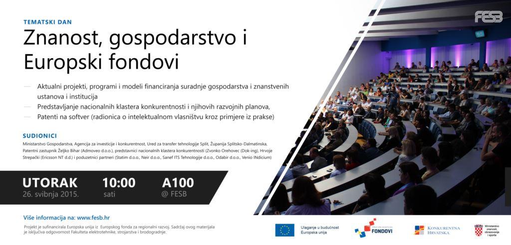 Tematski dan – Znanost gospodarstvo i EU fondovi