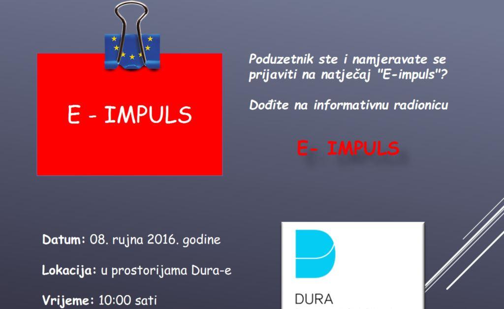 """""""E-impuls"""" informativna radionica za poduzetnike"""