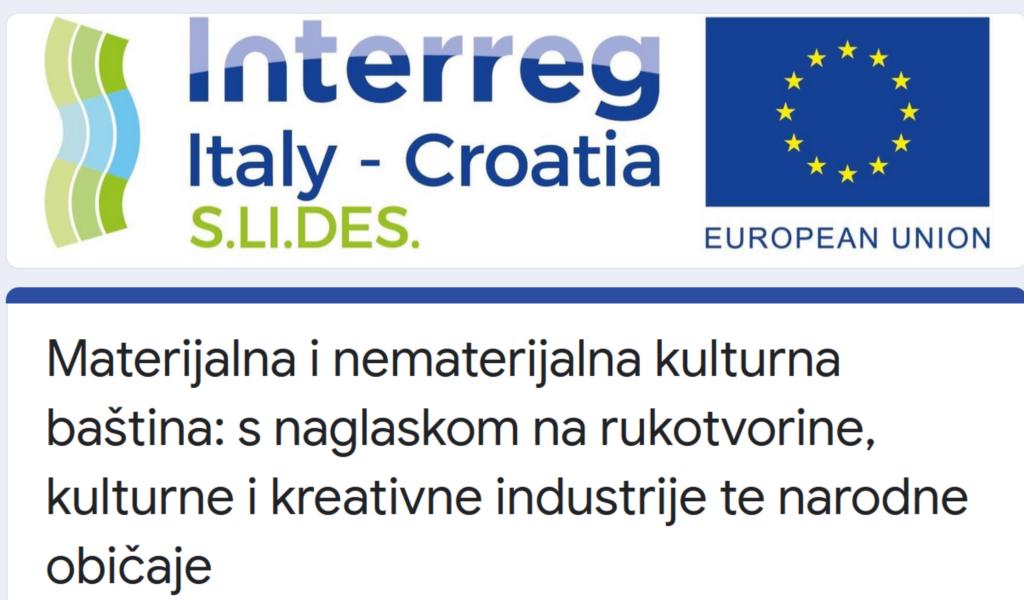 """S.LI.DES – ISTRAŽIVANJE """"ŽIVUĆE"""" KULTURNE BAŠTINE GRADA DUBROVNIKA"""